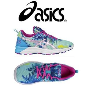 Blue & Pink ASICS Running Tennis Shoes